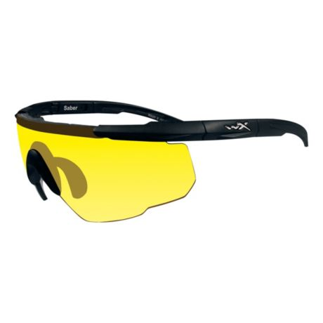 Wiley X Saber Advanced Shooting Glasses - Black/Yellow