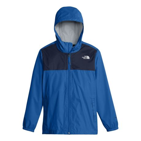 8ccefd67 The North Face® Boys' Zipline Rain Jacket - Turkish Sea. Use + and - keys  to zoom in and out, arrow keys move the zoomed portion of the image