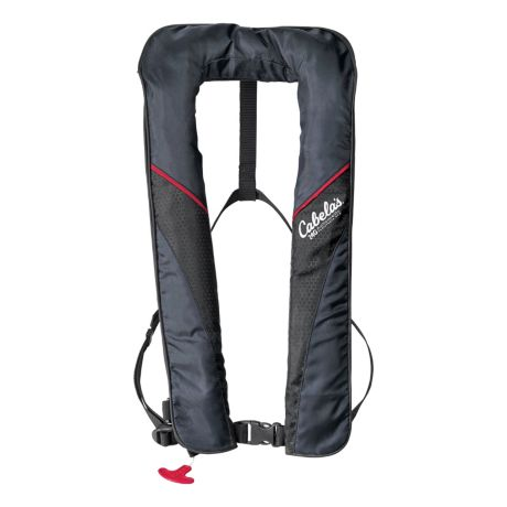 Cabela's Essential 2500 Auto-Inflatable PFD - Black/Red