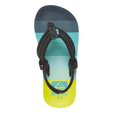 Reef Children's Ahi Flip Flops - sizes 7-10 - Aqua/Green