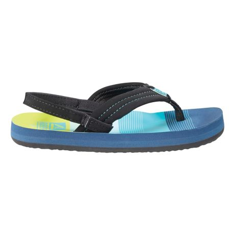 Reef Children's Ahi Flip Flops - Aqua/Green - sizes 7-10 - side