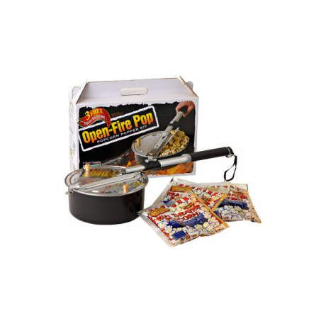Campfire Open Fire Popcorn Popper Kit