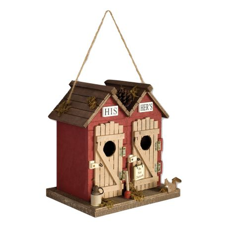 Sunset Vista Outhouse Birdhouse