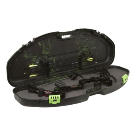 Plano® Fusion Ultra-Compact Bow Case - Green Swirl Open