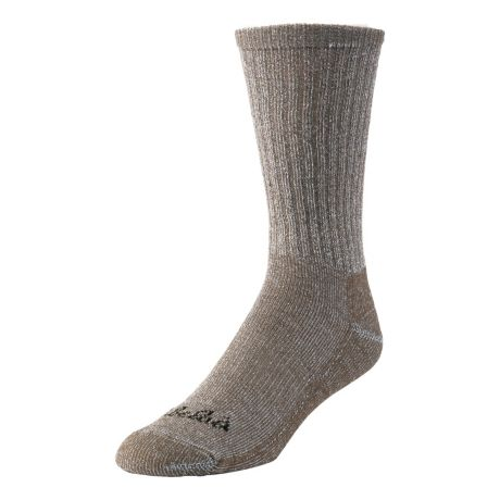 Cabela's Lightweight Wool Crew Socks - 4-Pack - Brown