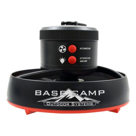 BaseCamp Tent Fan With LED Light