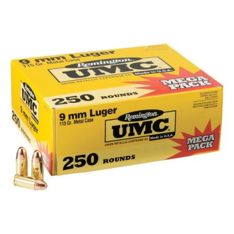 Remington UMC Pistol Ammunition - 250 Round Box