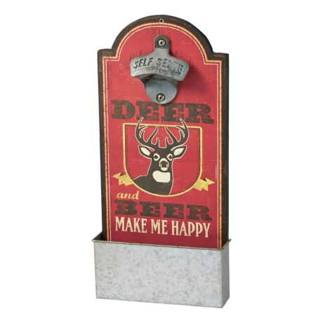 Cabela's Bottle Opener Signs - Deer and Beer