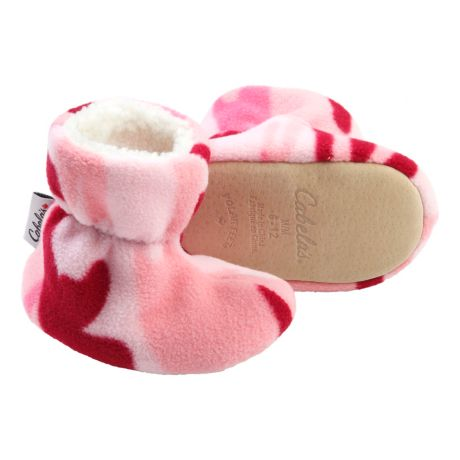 Cabela's Infant Polar Feet® Softsiders Booties - Pink Camo