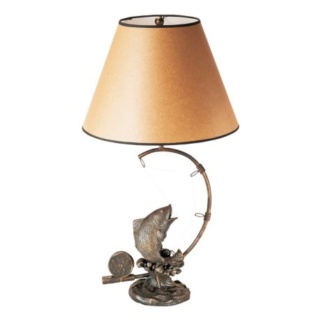 Cabela's Rustic Fish Accent Table Lamp