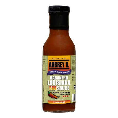 Aubrey D. Habanero Louisiana BBQ Sauce with Cayenne Peppers
