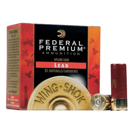 Federal Premium Wing Shok Lead Shotshells - 20 Gauge
