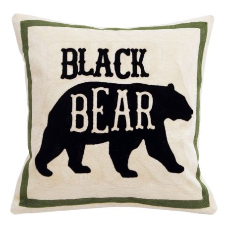 Carstens Chain Stitch Pillows - Black Bear