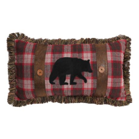 Carstens Finlay Plaid Bear Pillow