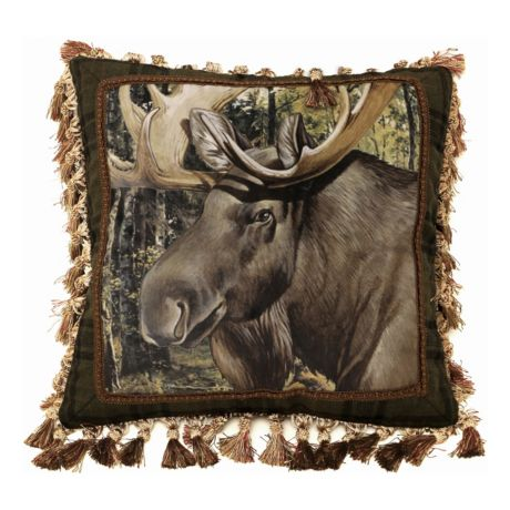 Carstens Moose Head Print Pillow