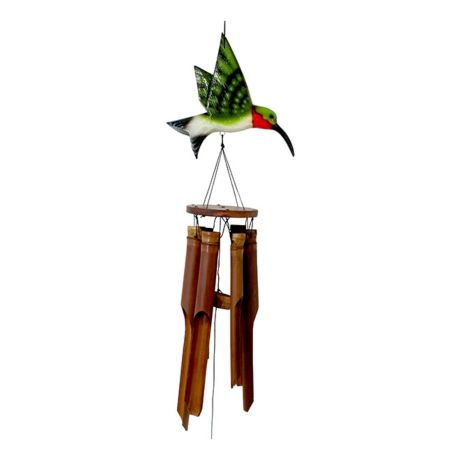 Cohasset Flat Hummingbird Bamboo Wind Chime