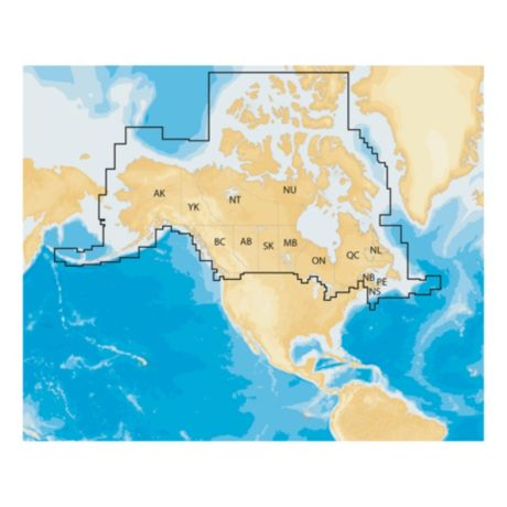 Navionics+ Regions - Canada and Alaska - Coverage Area