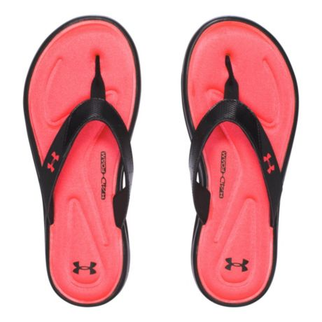 0698e3cc3d5a Under Armour® Women s Marbella V Slide Sandals - Black Sirens Coral. Use +  and - keys to zoom in and out