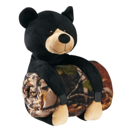 Cabela's Animal Pillow with Throw - Bear