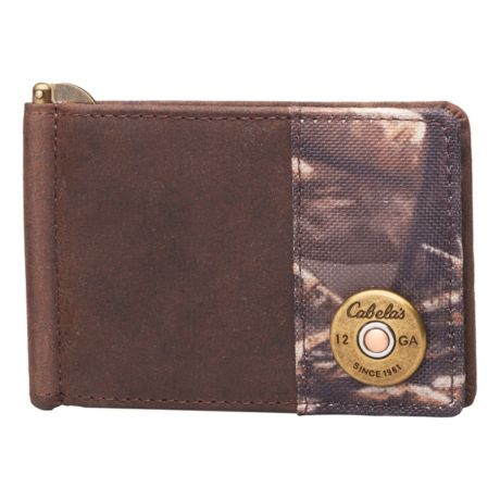 Cabela's Men's Oil-Tanned Leather Shotgun Shell Clip Wallet