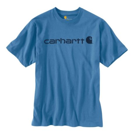 Carhartt® Men's Short-Sleeve Logo T-Shirt - French Blue