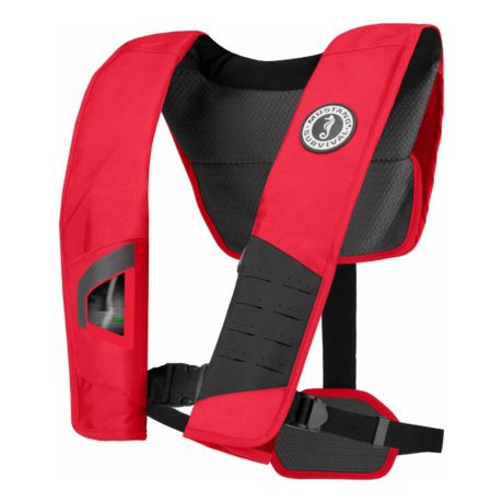 Mustang Deluxe 38 Auto Inflatable PFD - Red/Black