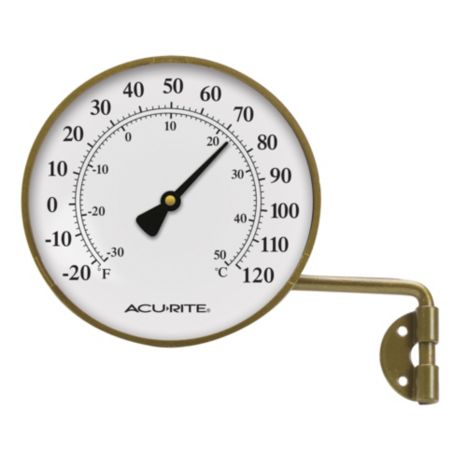Acu-Rite Brass Thermometer with Swivel Bracket