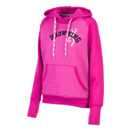 Browning® Women's Cypress Pullover Hoodie - Heather Festive Fuchsia