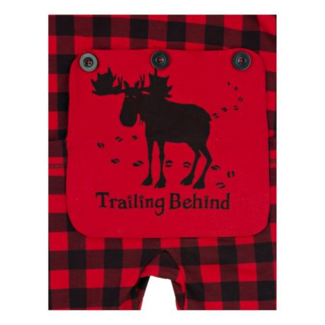 "Little Blue House ""Trailing Behind"" Buffalo Plaid Adult Union Suit - bum flap"