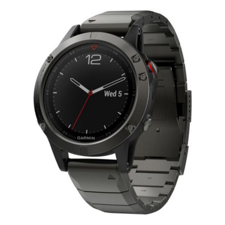 Garmin® fēnix® 5 Sapphire GPS Watch - Slate Grey/Metal Band