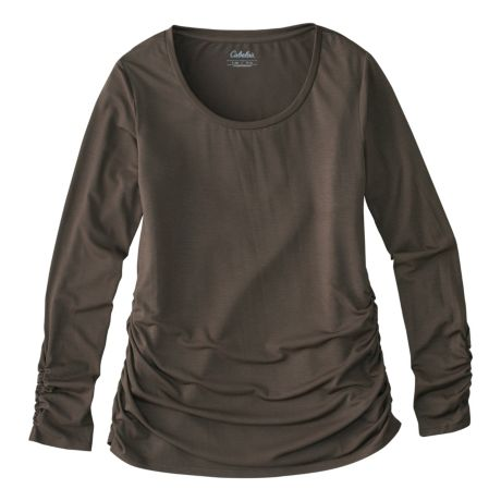 7b97e3feb872ac Mouse over image for a closer look. Cabela s Women s Ruched Long-Sleeve T- Shirt ...