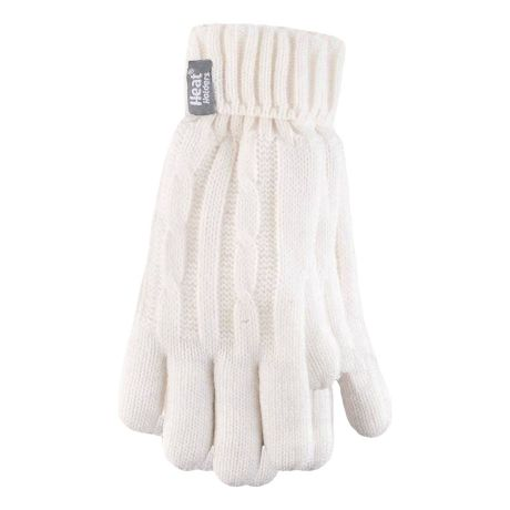 Heat Holders® Women's Cable Knit Gloves - Cream
