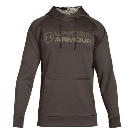 sports shoes 2c86d c1fb2 Under Armour® Men s Armour Fleece Stacked Hoodie - Maverick Brown. Use + and  - keys to zoom in and out, arrow keys move the zoomed portion of the image