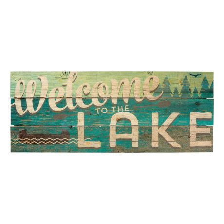 Cabela's Pallet Art - Welcome To The Lake