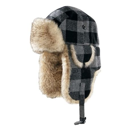 3ada352c084 Cabela s Men s Trapper Hat - Grey Plaid. Use + and - keys to zoom in and  out