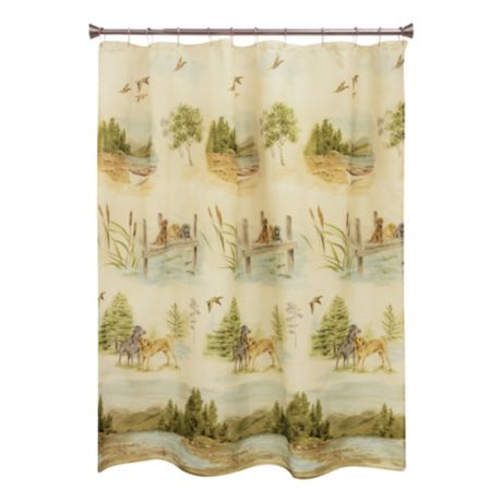 Mouse Over Image For A Closer Look Bacova Woodland Dogs Shower Curtain