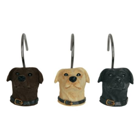 Bacova Woodland Dogs Shower Curtain Hooks