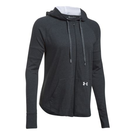 Under Armour® Women's Sportstyle Full-Zip Hoodie - Black/White
