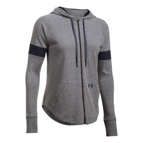 Under Armour® Women's Sportstyle Full-Zip Hoodie - Charcoal/Midnight Navy
