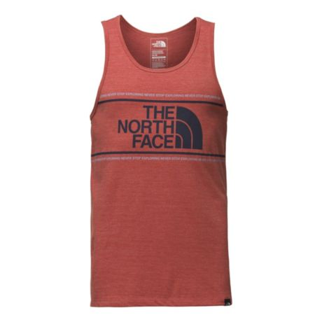 64321c6f31905 The North Face® Men s Edge To Edge Tank Top - Nova Red Heather. Use + and -  keys to zoom in and out