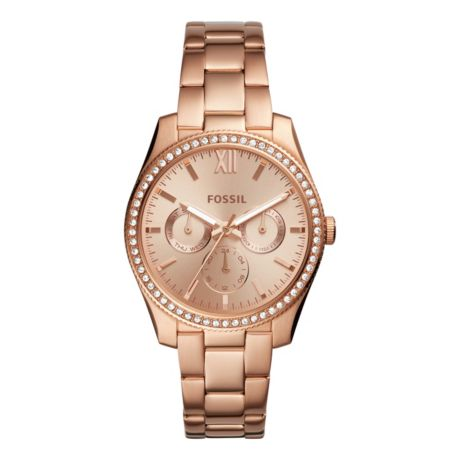 Fossil Women's Scarlette Rose Gold-Tone Stainless Steel Watch