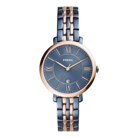 Fossil Women's Jacqueline Three-Hand Date Two-Tone Stainless Steel Watch