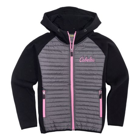 Cabela's Girls' Jasper Full-Zip Hoodie - Black/Charcoal