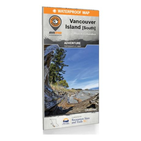 Backroad Mapbooks Vancouver Island Bc South Waterproof Map