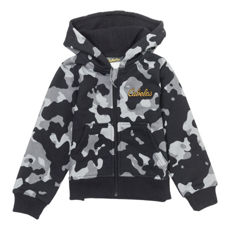 Cabela's Infant/Toddler Full Zip Hoodie - Black Urban Camo