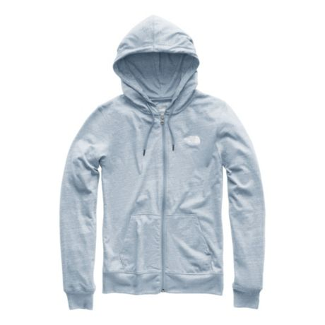 The North Face® Women's Lite Weight Tri-Blend Full Zip Hoodie - Gull Blue Heather