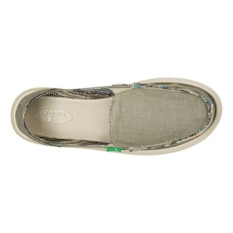 Sanuk® Women's Donna Hemp Shoe - Olive Grey - top