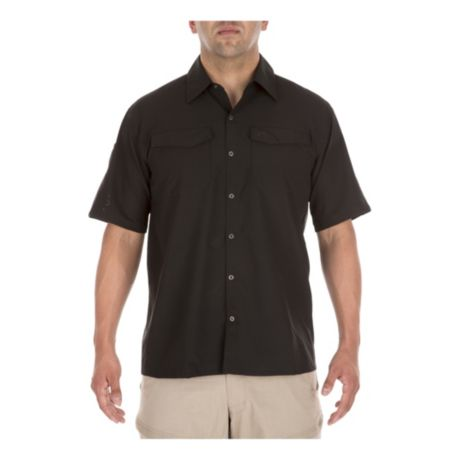 5.11® Men's Freedom Flex Short-Sleeve Shirt - Black