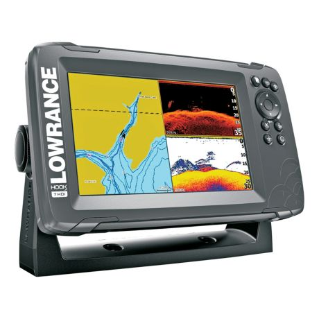 Lowrance® Hook2 - 7 with SplitShot Transducer and US / Canada Nav+ Maps - Side View 1