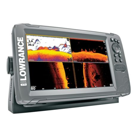 Lowrance® Hook2 - 9 with TripleShot Transducer and US Inland Maps - Side View 1